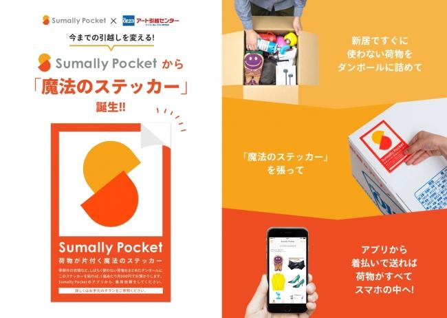 スマート収納アプリ「Sumally Pocket」、アート引越センターと提携
