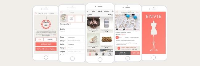 シンガポールのハンドメイドマーケット「ENVIE」がiPhoneアプリを提供開始