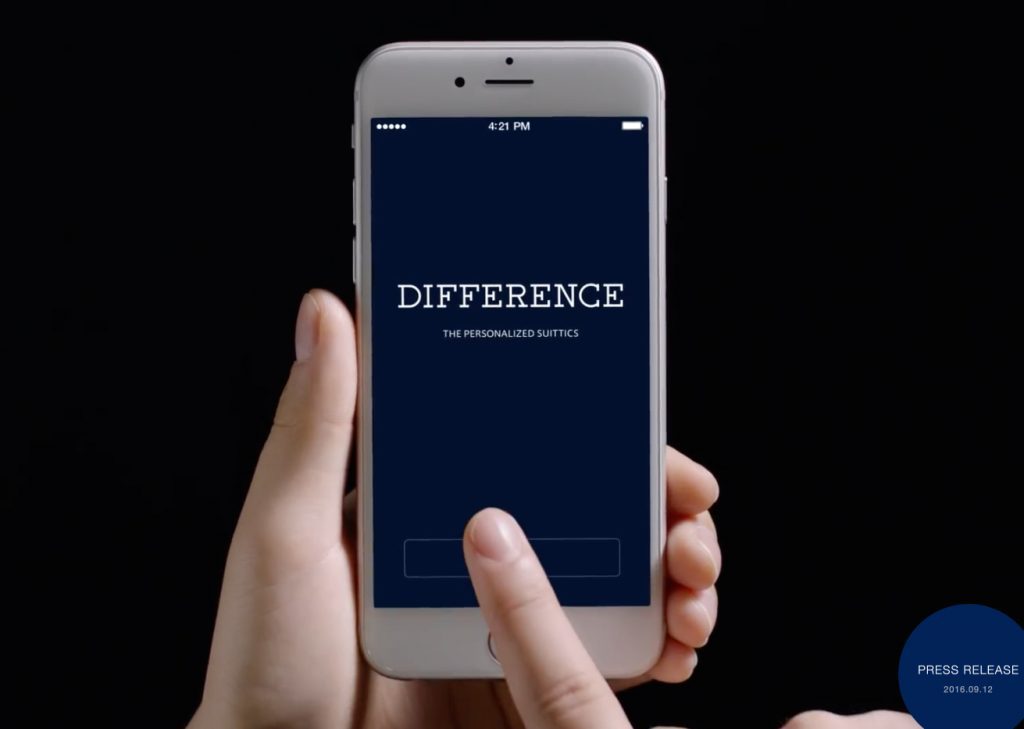 コナカ、オーダースーツ2着目以降はアプリでカスタムできる新ブランド「DIFFERENCE」を開始